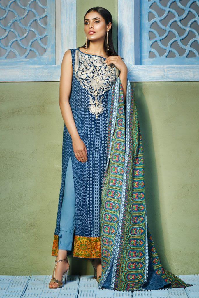 khaadi lawn chiffon eid dresses designs collection 2018