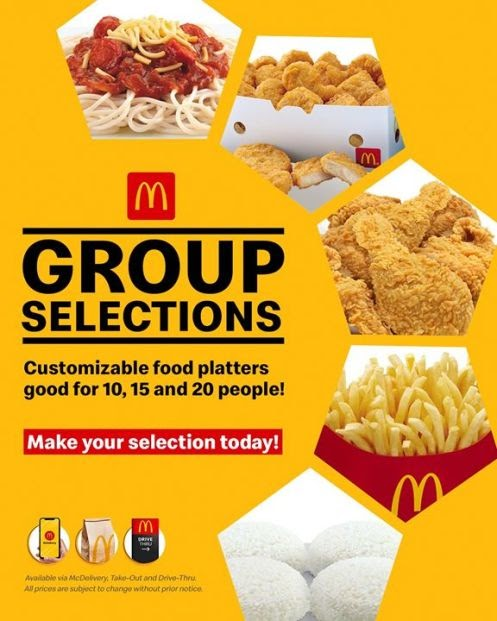 With Group Selections, you can mix-and-match everyone's favorites from McDonald's