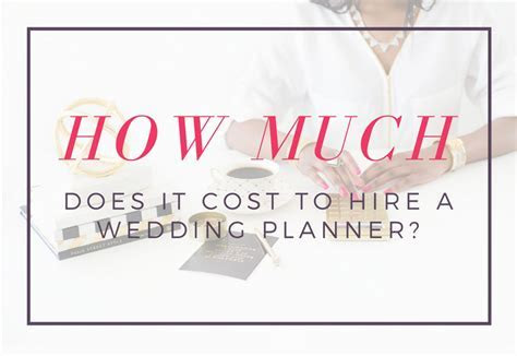 How Much Does It Cost To Hire a Wedding Planner?