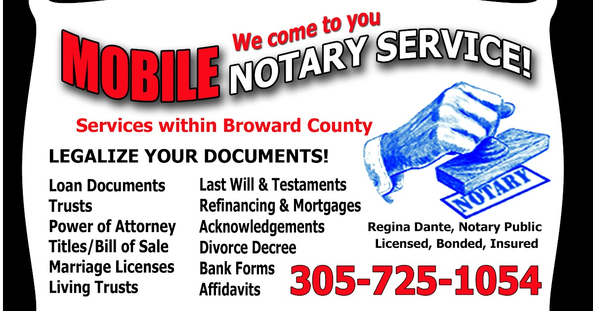 Notary Public Business Card Samples Sample