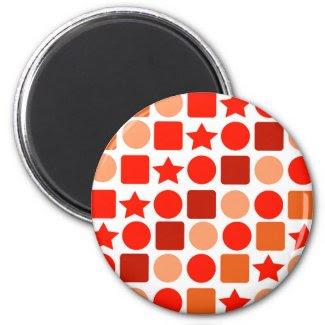 redOrange Geometrics! 2 Inch Round Magnet