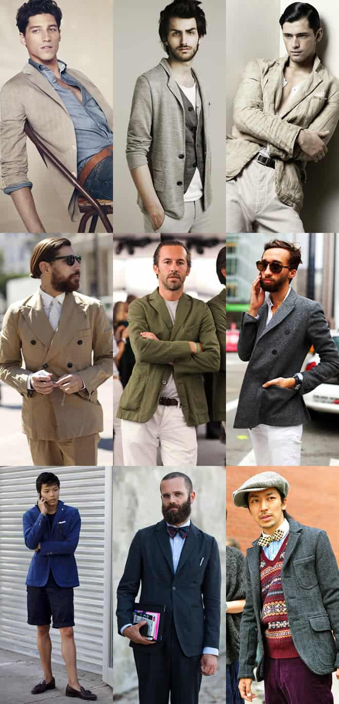 Men's Unstructured Blazer Lookbook