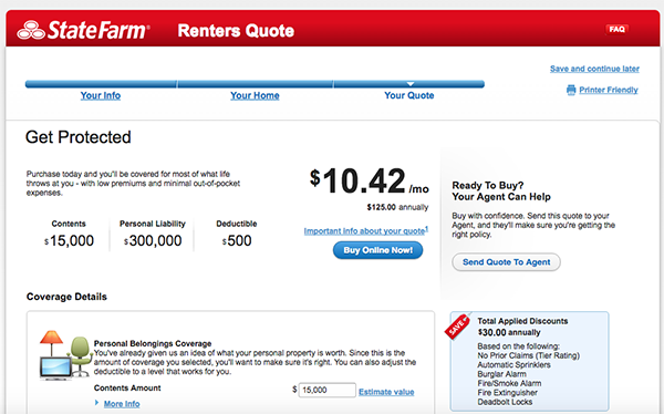 Renters Insurance State Farm Renters Insurance Cost