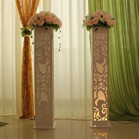 8pcs Wedding carved pillars column wedding road lead stand