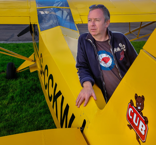 Bjorn with his Piper Super Cub