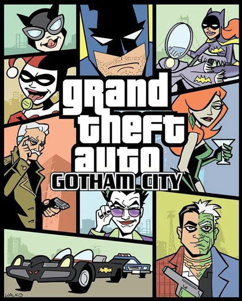 GRAND THEFT AUTO: GOTHAM CITY.