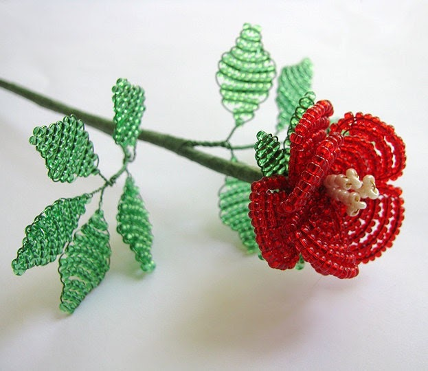 Wire Wrapped Jewelry And More Beaded Tea Rose