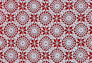 Detail of a Portuguese crochet table-cloth, about 1970