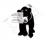 Bear Walking Your Way Silhouette Yard Art Woodworking Pattern - fee plans from WoodworkersWorkshop® Online Store - bears,animals,wildlife,yard art,painting wood crafts,scrollsawing patterns,drawings,plywood,plywoodworking plans,woodworkers projects,workshop blueprints