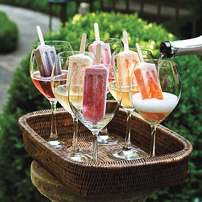 Popsicles and champagne.