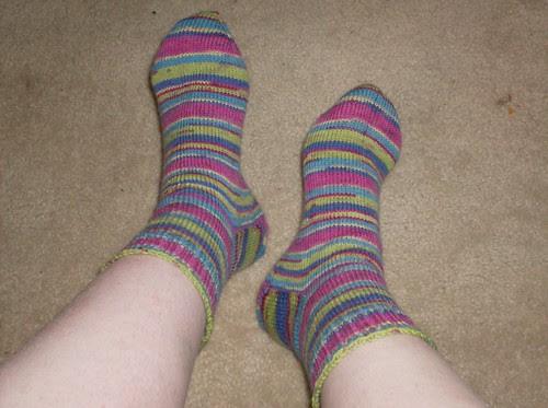 Riverbed Cat Bordhi sockitechture socks sockitecture gusset toe up Red Heart and Sole aloe sock yarn knitting