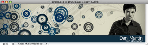 Trendy Circle Brush in Photoshop Tutorial: Final Result