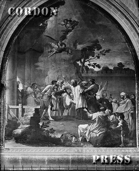 Frescos del Claustro de la Catedral de Toledo hacia 1875-80. © Léon et Lévy / Cordon Press - Roger-Viollet