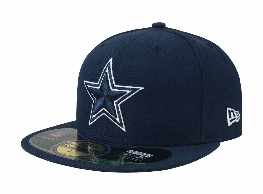 New Era 59Fifty NFL Cap Dallas Cowboys Navy White On Field Fitted 5950 Hat eBay