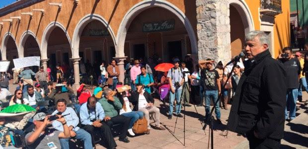 Obrador de gira en Calvillo, Aguascalientes. Foto: AMLO