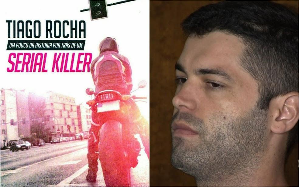 Livro que será lançado por Tiago da Rocha, o serial killer de Goiânia (Foto: Reprodução/TV Anhanguera)