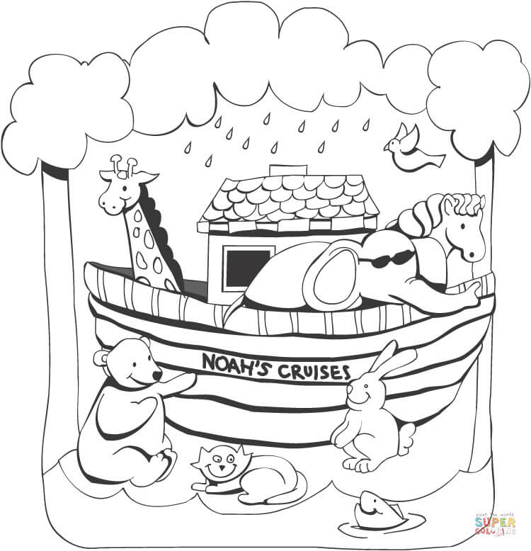 Noahs Ark Coloring Pages Free Coloring Pages