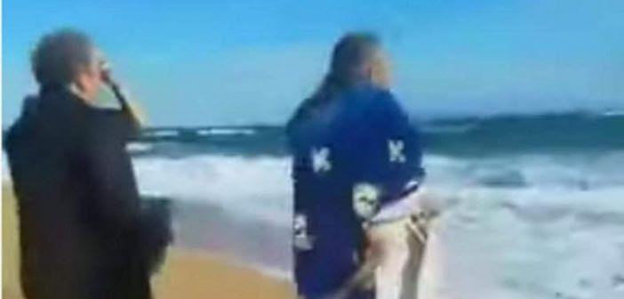 Απίστευτο: Ιερέας έπεσε στη θάλασσα από τους θυελλώδεις ανέμους στην Κεφαλονιά (VIDEO)
