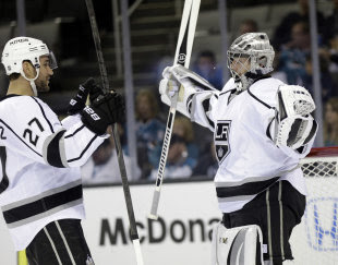 The Kings showed incredible resilience in 2014 playoffs, winning three 7-game series en route to the final. (AP)