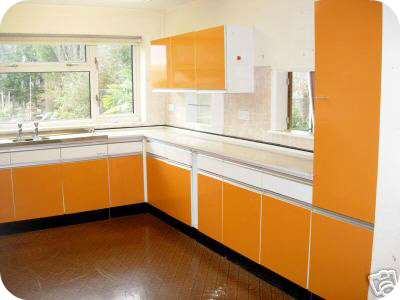 1969 Dainty Maid orange and white kitcen