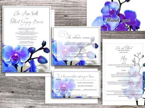 Wedding Invitations printable templates   Santa Clara Blue