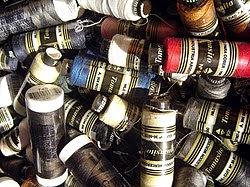 Mercerized cotton yarn reels