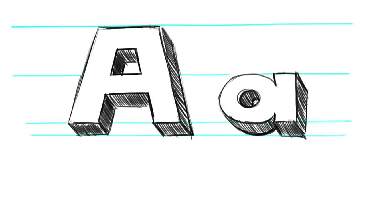 D Letter E Drawing  Komseq
