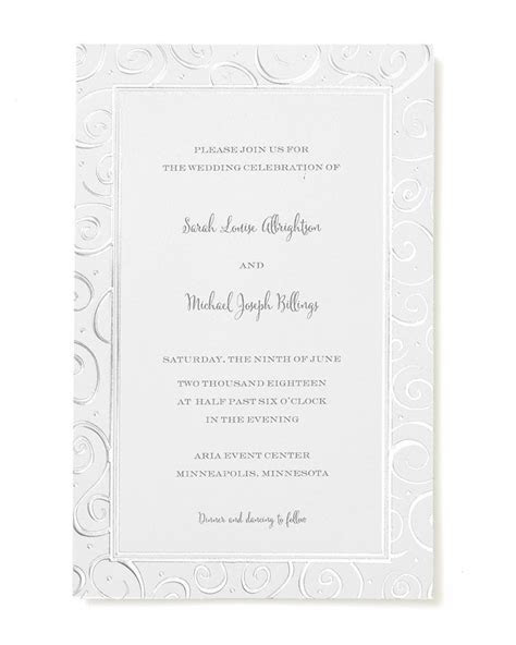 Foil Swirls Print at Home Invitation Kit   Gartner Studios