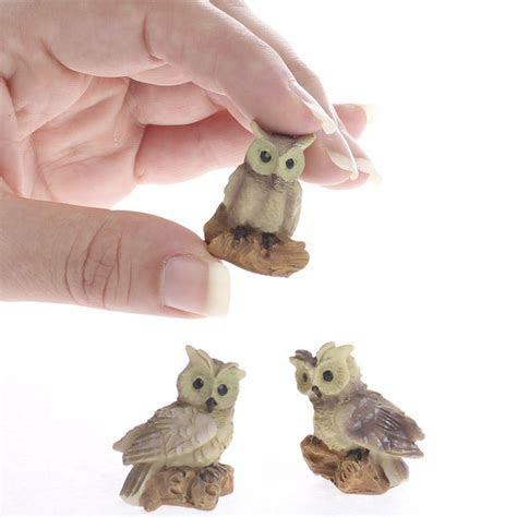 Miniature Resin Owls   Animal Miniatures   Dollhouse