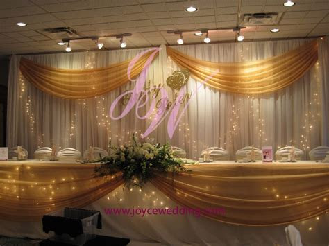 #Twinkle #lights and Gold #Sash #Backdrop Decoration