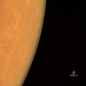 Mars Color Camera from an altitude of 8449 km, spatial resolution of 439 m, centered around Lat: 20.01N, Lon:31.54E