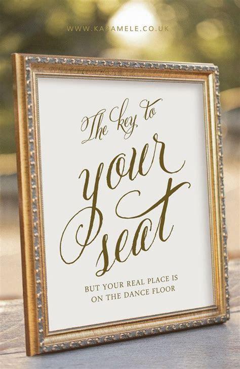 Key Wedding Sign   Key to Your Seat   Wedding Reception