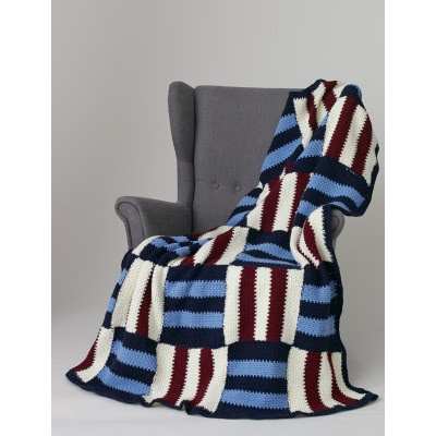 Striped Parquet Afghan