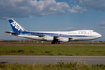 ANA-All Nippon Airways Boeing 747-281B JA8181 (msn 23698) FCO (Marco Finelli). Image: 913284.