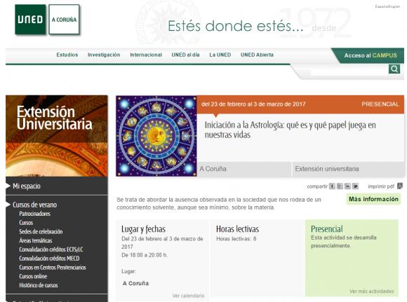 Iniciación a la Astrología qué es y qué papel juega en nuestras vidas Extensión Universitaria en A Coruña UNED