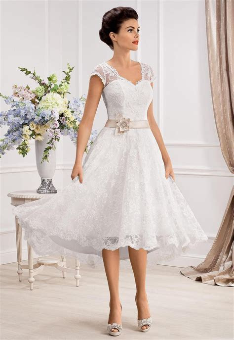 Knee Length Wedding Dresses   Dresscab