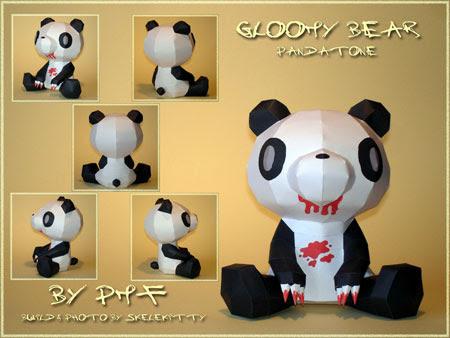 Gloomy Bear Papercraft Pandatone