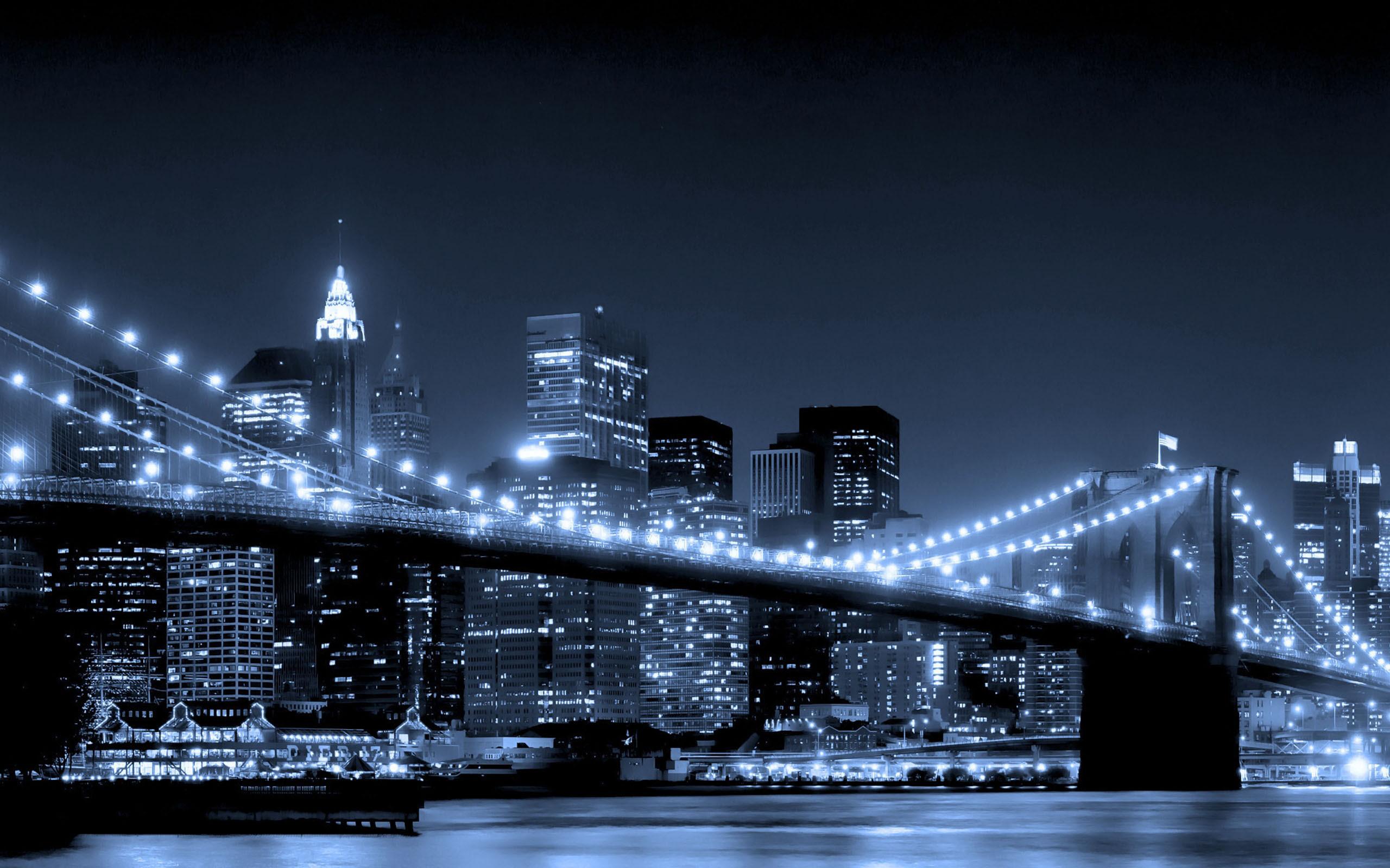 New York City At Night Scene [2560 × 1600]