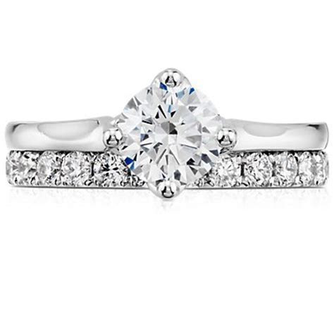 East West Solitaire Engagement Ring in 14k White Gold