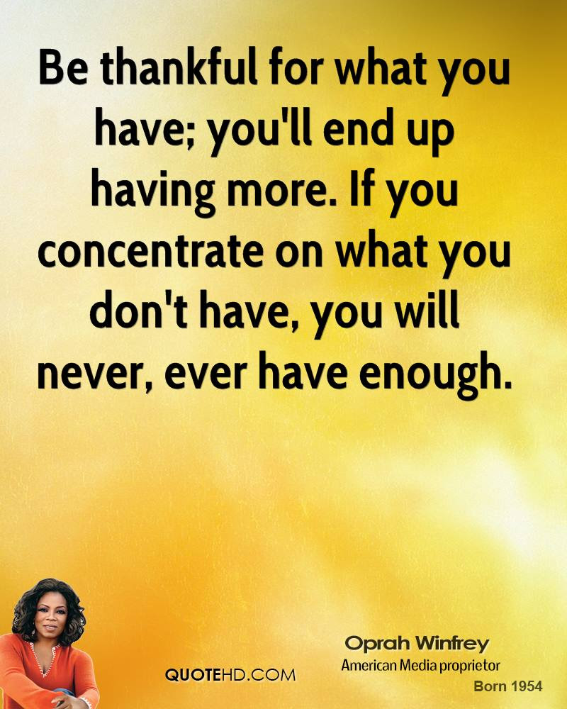 Oprah Winfrey Thanksgiving Quotes Quotehd