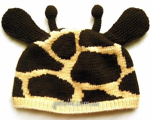 Cap de la jirafa por radios bebé.  Descripción esquema de ganchillo