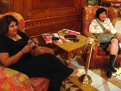 Mui and Maha, waiting to go to Rome Film Festival