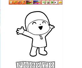 Pocoyo Boyama Oyunu Oyna Pocoyo Oyunları