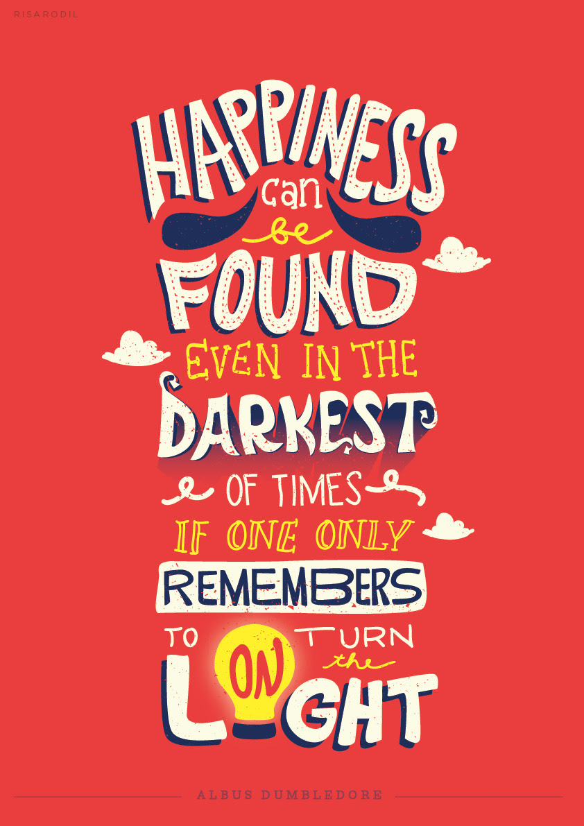 Harry Potter Quotes  Typographic Posters   Risa Rodil