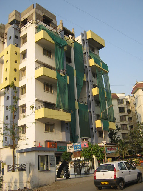 Front View of Under Construction Additional Floor at Hill Side Bavdhan - Visit Lohia Jain Group's Riddhi Siddhi, 2 BHK & 3 BHK Flats at Bavdhan Khurd, Pune 411 021