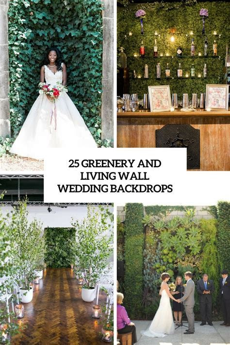 25 Greenery And Living Wall Wedding Backdrops   Weddingomania