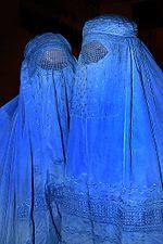 Two Afghani women wearing Burqas