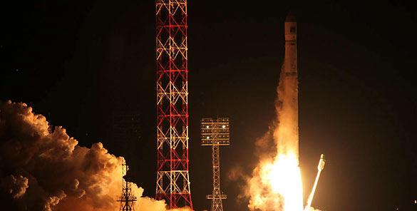 Momento del lanzamiento de la sonda Fobos-Grunt