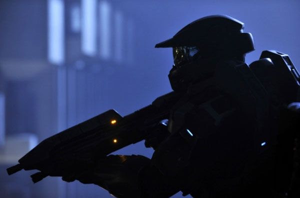 Daniel Cudmore as Master Chief in HALO 4: FORWARD UNTO DAWN.