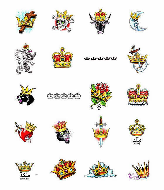 Crown Tattoos What Do They Mean Crown Tattoos Designs Symbols